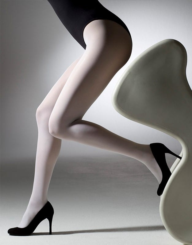 40 denier Cream Opaque Tights