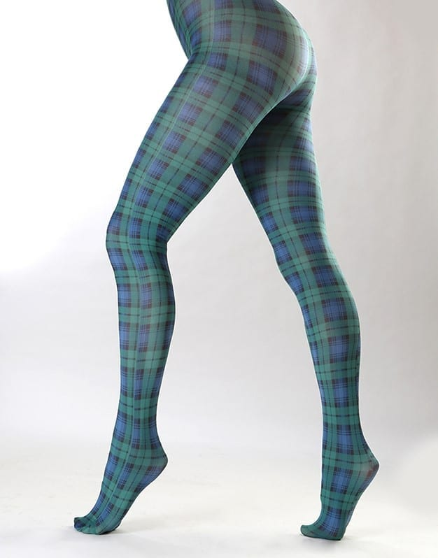 Blackwatch Tartan Printed Tights